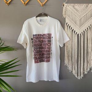 Maid- Rite Sandwich Shoppe Gum Wall T Shirt Large